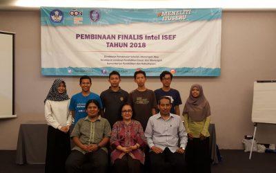 Pembinaan Finalis Intel ISEF 2018