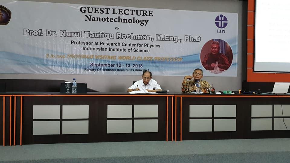 Kuliah Umum Nanoteknologi Pembina Nano Center Indonesia di Fakultas Kedokteran Gigi Universitas Brawijaya