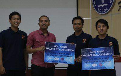"Nano Center Launching ""Nano Project Collaboration"" dengan Bogor Science Club IPB"