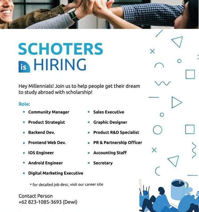 SCHOTERS is Hiring!