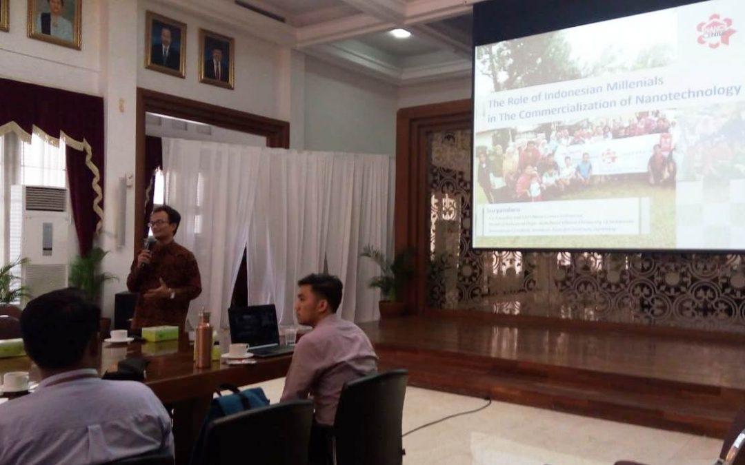 Nano Center Indonesia Dukung Penyusunan RPJMN Sektor Industri di Bappenas