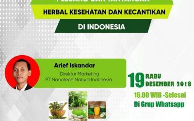 """Seminar Online """"Peluang dan Tantangan Herbal Kesehatan dan Kecantikan di Indonesia"""""""