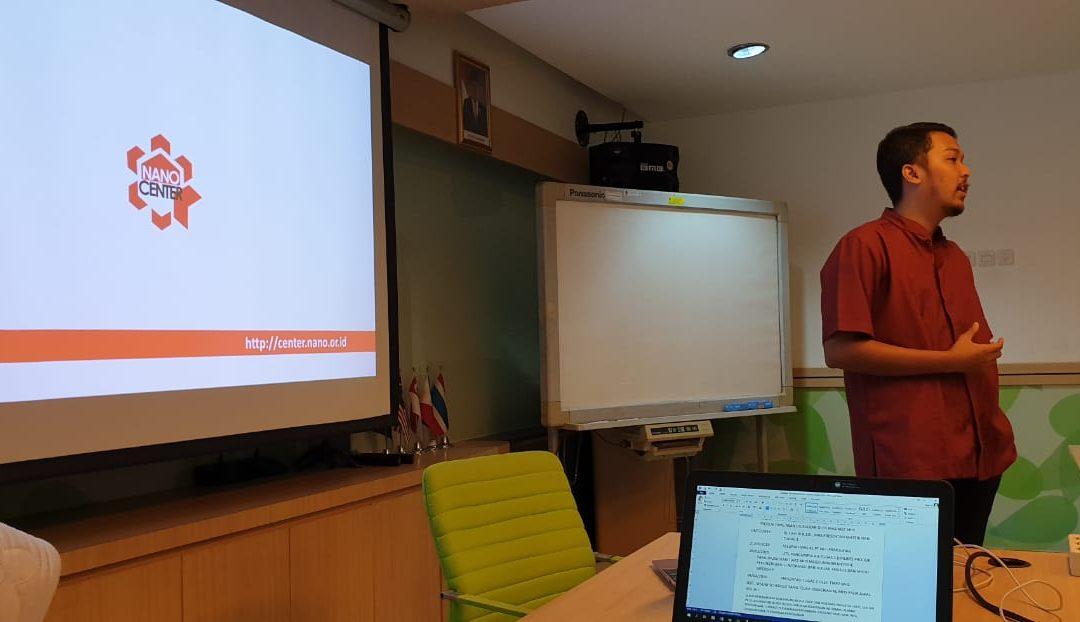 Co Founder Nano Center Dorong Teknopreneurship dikalangan Mahasiswa Teknik Kimia UI