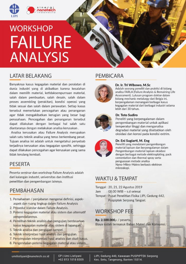 Workshop Failure Analysis - Sinergi Nanotech Indonesia