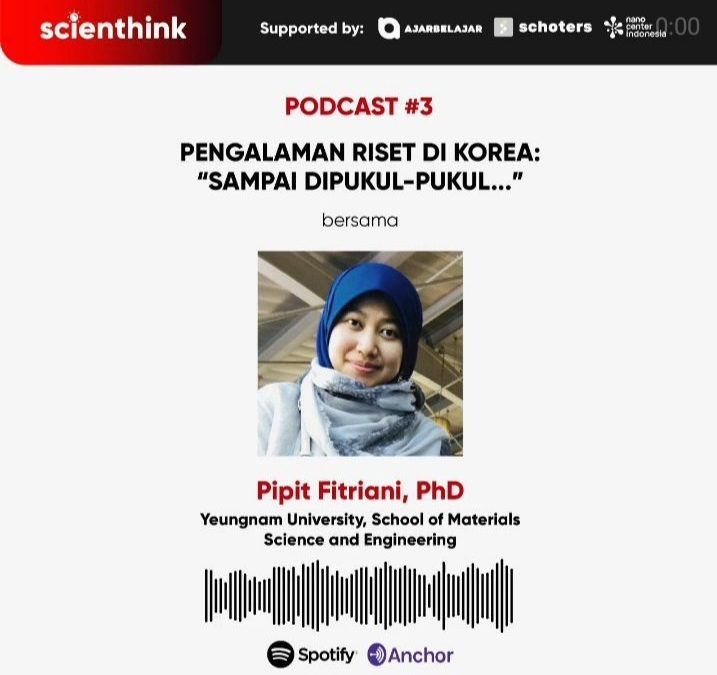 Podcast #3 Scienthink! Pengalaman Riset di Korea