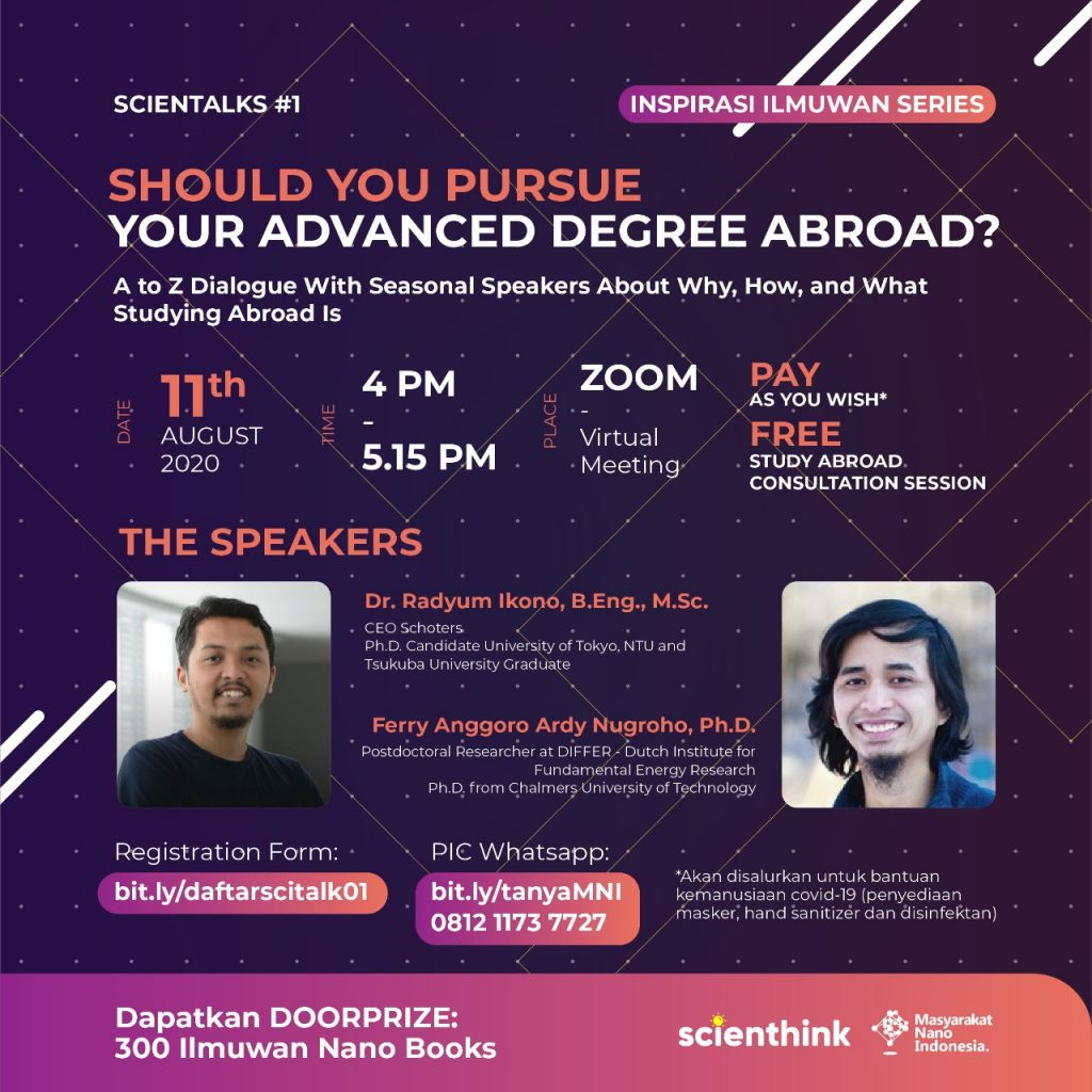 Scientalks#1 Should You Pursue Your Advanced Degree Abroad?