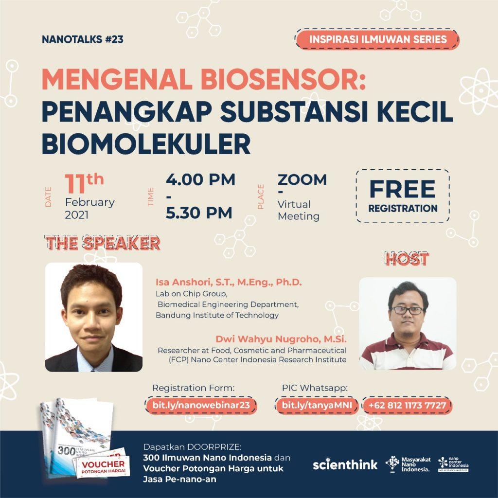 Nano Talks #23 Mengenal Biosensor : Penangkap Substansi Kecil Biomolekuler