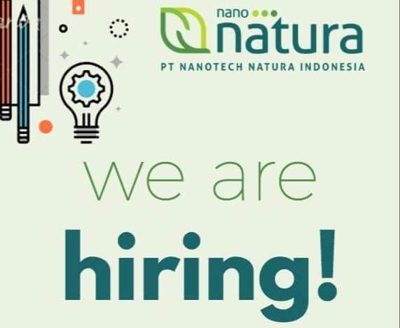 Open Recruitment Nanotech Natura Indonesia