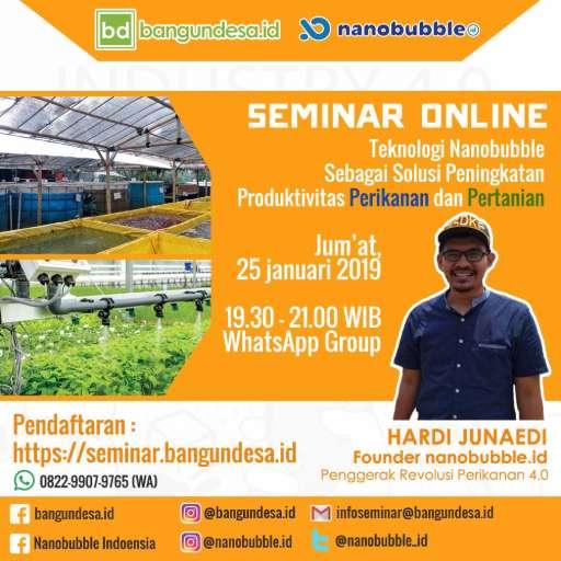 Seminar Online Pemanfaatan Nanobubble Bersama Bangundesa
