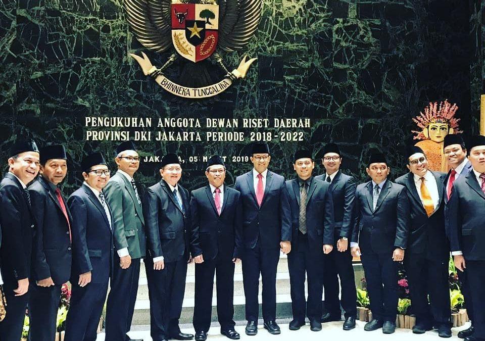 Pembina Nano Center Indonesia Dikukuhkan Sebagai Dewan Riset Daerah Provinsi DKI Jakarta