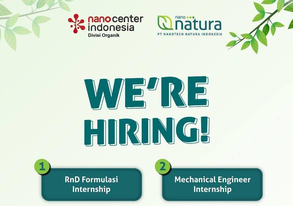 Nanotech Natura Internship