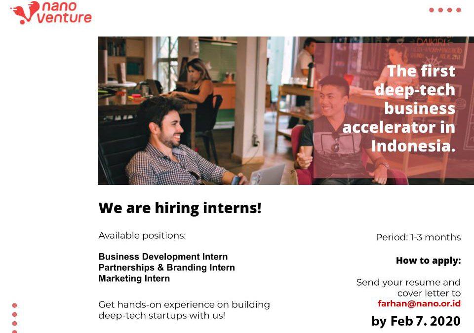 Nano Venture Internship