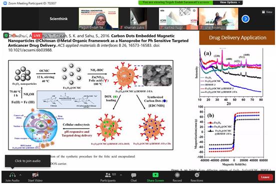 Mengenal Nanopartikel Magnetik Berbasis Karbon untuk Bioaplikasi Dalam Seri Webinar Nano Talks #25