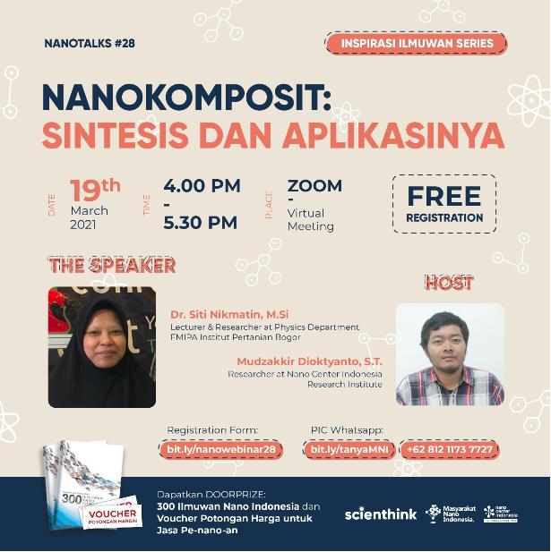 Nano Talks #28: Nanokomposit : Sintesis dan Aplikasinya